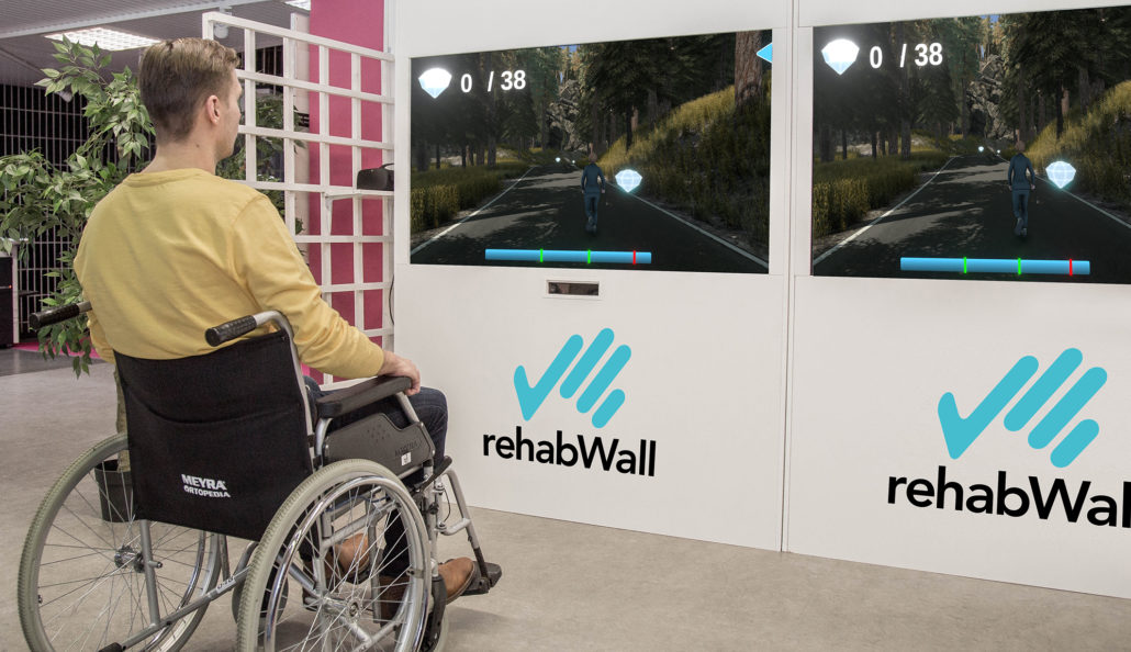 rehabwall mur virtuel de rééducation
